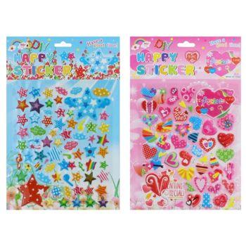 27-42010, Sticker 3D Herzen und Sternchen, Pop-Up Sticker