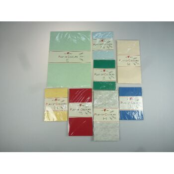 12-19890935, SUSY CARD Farbiges Briefpapier und Umschlagsortiment Sets Play of Colour