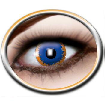 27-52549, Kontaktlinsen Paar, 3 Monatslinsen in Schachtel Ausführung: Sun blue