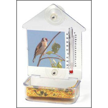 28-385082, Vogelfutterstation mit Thermometer