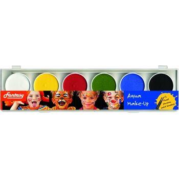 27-06500, Gesichtsfarbe Aqua-Malkasten mit Pinsel, Fasching, Karneval, Parties, Junggesellenabschiede, Sportveranstaltungen usw