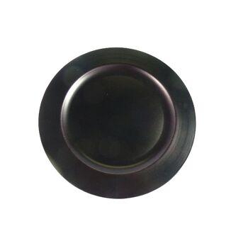 12-152804100, Dekoteller Kastanie Matt 28 cm, Platzteller, Deko Teller, Kerzenteller Unterteller