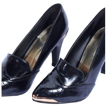 Elegante Pumps schwarz/gold für Damen und Mädchen Arizona