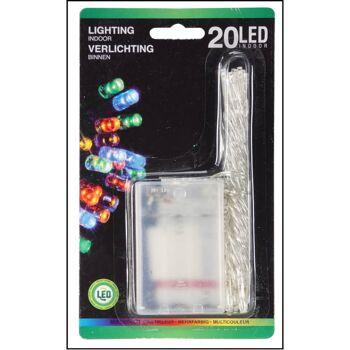 28-500727, LED Lichterkette 20 LED farbig, 190 cm, Weihnachtsbaum, Tannenbum, Weihnachtsdeko