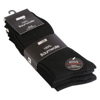Herren Socken aus 100% Baumwolle in schwarz