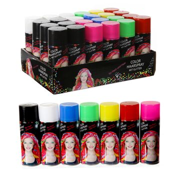 12-91165, Colour Haarspray Glitter Party, Karneval, Fasching, Event, Verkleiden, Kostüm, usw