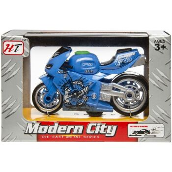 21-3037, Metall Motorrad Rennmaschine, Bike Metallauto, Modellfahrzeuge