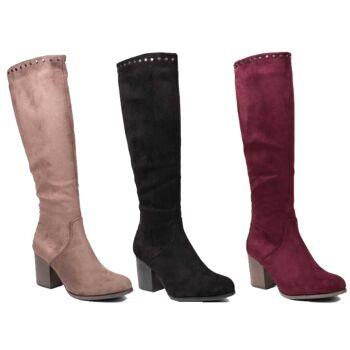 Damen Stiefel Overknee Boots Schuhe Shoes Stiefeletten Trend - 18,90 EUR