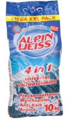 Waschmittel, Vollwaschmittel, Detergent, washing powder  ALPINWEISS 4in1 10 Kg PVC Verpackung