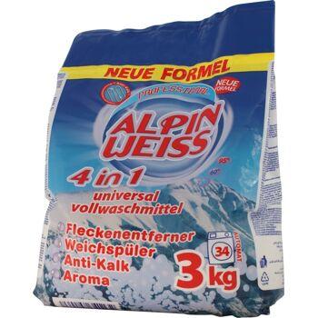 Waschmittel, Vollwaschmittel, Detergent, washing powder Alpinweiss 9.0Kg