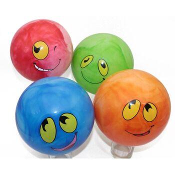 27-71402, Grimassenball 20 cm, aufblasbar Lachgesicht, Spielball, Wasserball