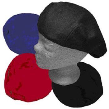 Modische Barett Flat Cap rot aus Filz Gatsby 100% Wolle
