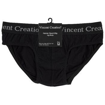 Vincent Creation® Herren Sport-Slips aus Baumwolle in schwarz
