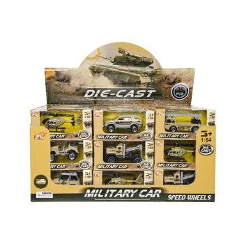 21-3228, Metallfahrzeuge Militär, Auto, LKW, Hubschrauber, Kranwagen, MILITARY Modellfahrzeug, Metallauto