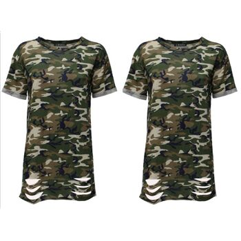 Damen Women Longshirt T-Shirts Shirts Rundhals nur 7,90 Euro