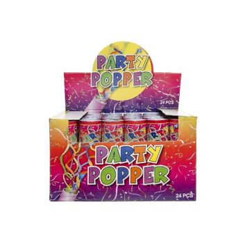 21-7133, Konfettiwerfer 20 cm, Party Popper, Partypopper, Konfettishooter, Konfettikanone, Party, Event, Silvester, Karneval, Fasching, usw