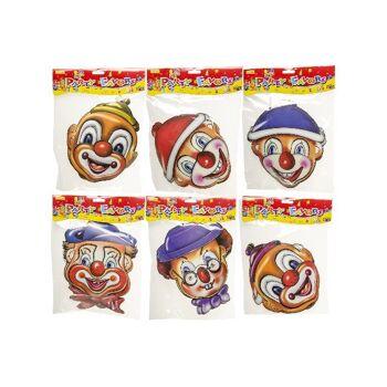 21-9568, Party Maske Clown, Clownmaske, Kostüm, Junggesellenabschied, Silvester, Party, Event, Geburtstag, Karneval, Fasching, usw