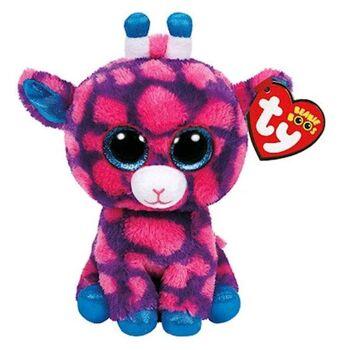 27-28250, Ty Beanie Boo's Glubschi's Giraffe 16,5 cm, Plüschtier, Spieltier, Kuscheltier