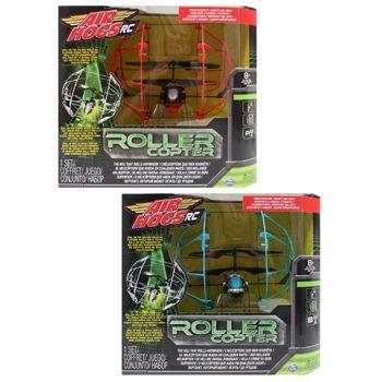27-51775, Spin Master 4 Kanal Air Hogs Roller Copter, fliegt und rollt, rollt an der Zimmerdecke, Boden, Wnd, usw