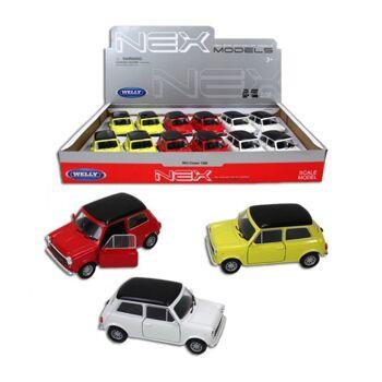27-46013, WELLY Metall Mini Cooper mit Antrieb, Sammlerauto, Rennwagen, Modellauto