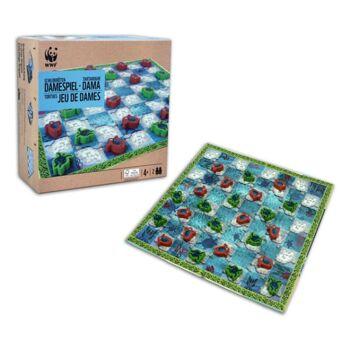 27-46031, WWF Schildkröten Damespiel, Brettdamespiel, Gesellschaftsspiel
