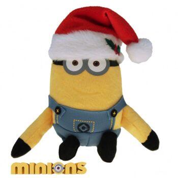 10-202140, Plüsch Minions Weihnachten 26 cm, Kuscheltier, Spieltier