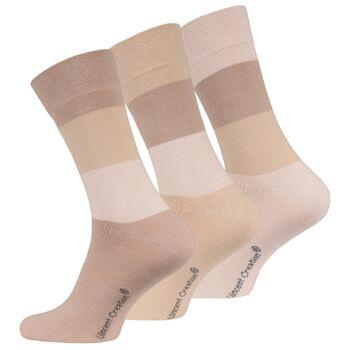 Vincent Creation® Herren Business-Socken mit Blockringel