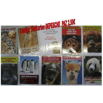 12-GK0002, Depesche Grußkarte / Klappkarte Tiere statt 2,50 Euro