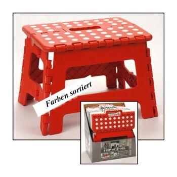 28-905031, Klapptritt faltbar, auch Sitzhocker, Fußbank, Klapphocker, für Haushalt, Küche, Bad, Hobby, Werkstatt, usw