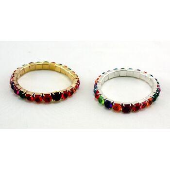 27-41168, Armbänder mit Faschion Steinchen, Armband, Modeschmuck