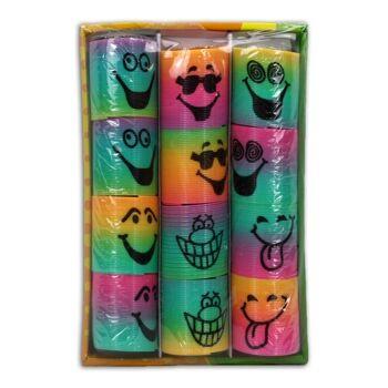 27-41260, Spirale mit Lachgesichtern, Treppenläufer, Regenbogenspirale, schönes Give Away, Mitgebsel, Mitbringsel