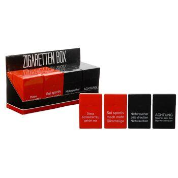12-61731, Automatik Zigaretten Box mit Sprüchen Zigarettenetui, Zigarettenschachtel