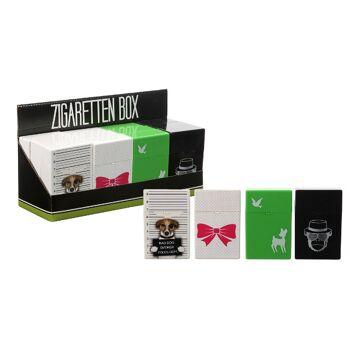 12-61732, Automatik Zigaretten Box mit Trendy Motiven Zigarettenetui, Zigarettenschachtel