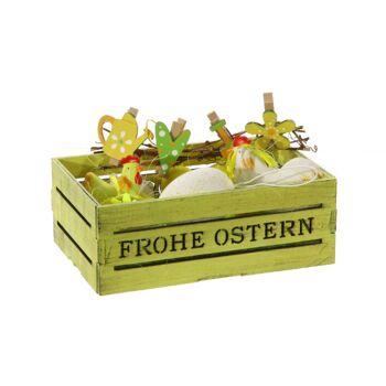 17-62011, Oster Dekoration, 15er Set in Holzbox