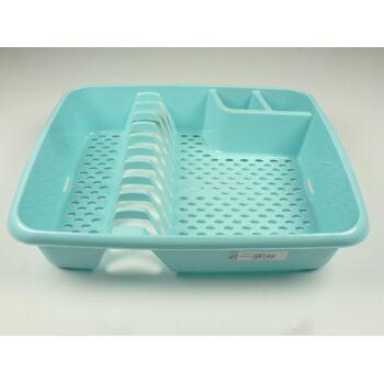 12-662950, RIVAL Geschirrablaufkorb mit 2 Besteckhalter, sehr stabile Qualität, Geschirrabtropfkorb, auch ideal für Hobby, Camping, Outdoor, Picknick
