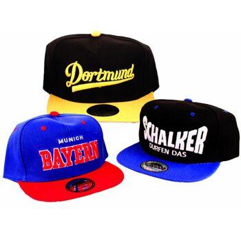Basecap Cap Caps Kappe Fußball Baseball Skate Bayern Schalker Dortmund Unisex - 2,99 Euro