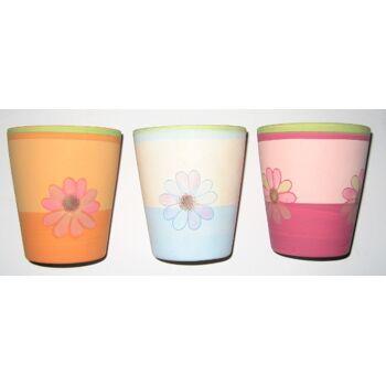 12-24076425, Windlicht Blumenmotive Terra im Blumentopf GIES