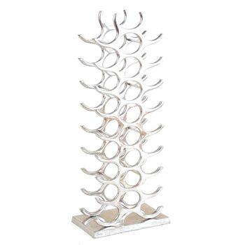 17-61403, Metall Weinflaschenständer für 27 Flaschen, Weinflaschenhalter, Weinflaschenregal