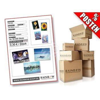 Posten mit ca. 50000 Alu-Bildern mit verschiedenen Motiven.