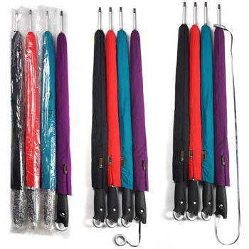 28-123547, Umhängestockschirm 104 cm, selbst aufrollend, Regenschirm, Automatikschirm Stockschirm