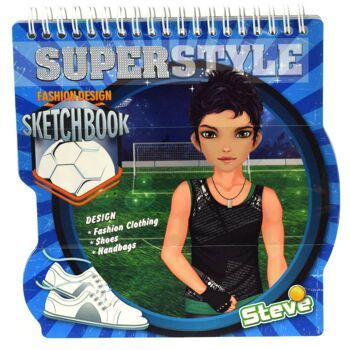 28-469202, Superstyle Skizzenbuch mit Stickern und Schablonen, so kann Ihr Kind seine eigenen Styles entwickeln, Malbuch, Zeichenblock