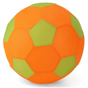 28-589997, Spielball 30 cm mit Stoffüberzug, Wasserball, Strandball, Fussball, Fußball