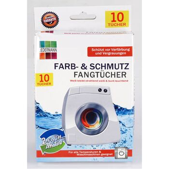 28-768444(12), Waschtücher Farbtücher und Schmutzfangtücher, 10er Pack schützt vor Vergrauung, und Verfärbungen, für alle Textilien und Temperaturen geeignet