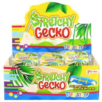 28-370584, Stretch Geko, Krokodil, aus Gummi, sehr dehnbare Gummimischung, Klatschtier