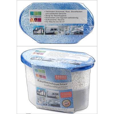 28-770652, Luftentfeuchter 3 in 1, Box 550 ml mit 230g Granulat , verhindert Schimmel, Rost, Stockflecken und schlechte Gerüche usw