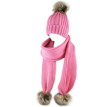 Strickset Acryl, pink