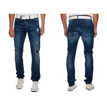 Herren Jeans Hosen Jeanshose Slim Stretch Denim Washed Vintage - 15,90 Euro