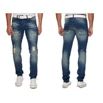Herren Jeans Hosen Jeanshose Slim Stretch Denim Washed Vintage - 15,90 Euro