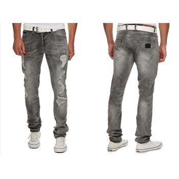 Herren Jeans Hosen Jeanshose Slim Stretch Denim Washed Vintage - 16,90 Euro