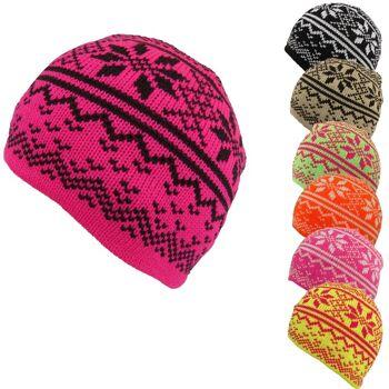 Strickmütze mit Muster, verschiedene Farben